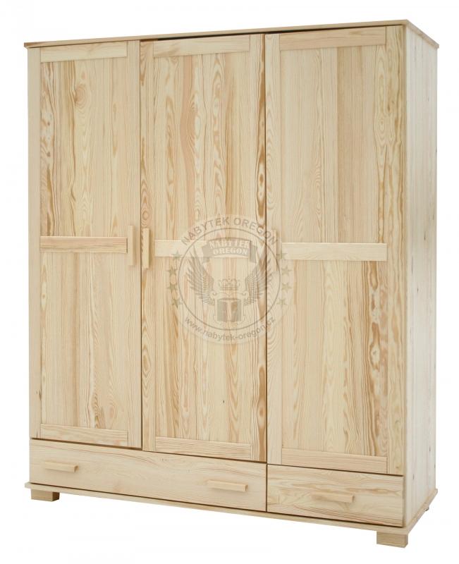 Skříně a skříňky - Šatní skříň z masivu Slim 150