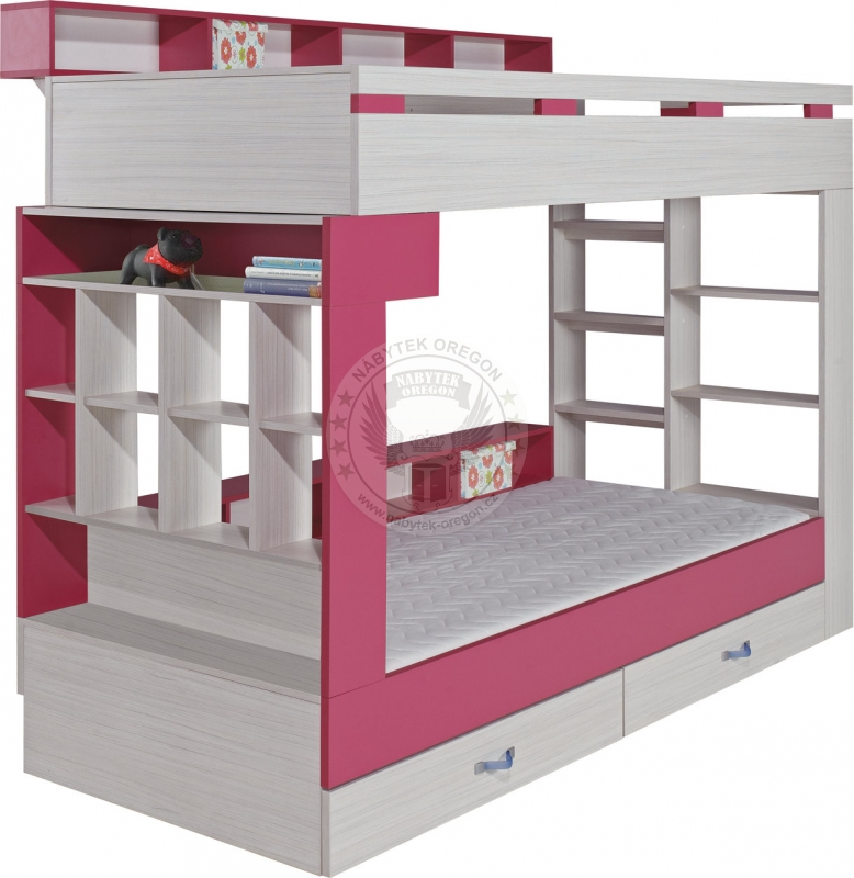 Postele - Patrová postel Zipper 14