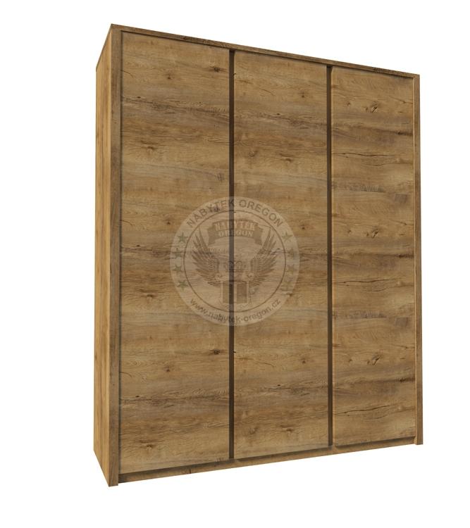 Skříně a skříňky - Šatní skříň Malachit S3D