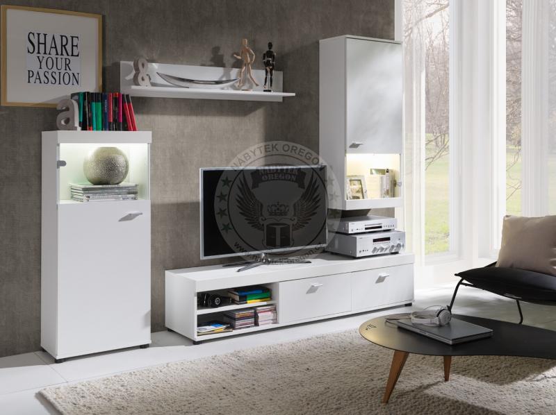 Obývací stěny a sestavy - Obývací stěna Evra bílá