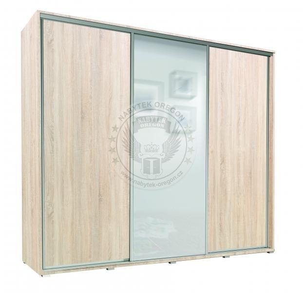 Skříně a skříňky - Šatní skříň Sam 255 s posuvnými dveřmi