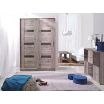 Šatní skříň Olympus 140 s posuvnými dveřmi